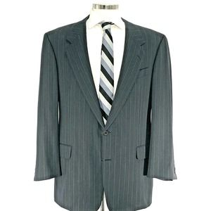 Hickey Freeman Gray Pinstripe Sport Coat Blazer